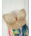 Maxi abito glitter fiori