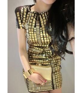 Vestito borchie oro