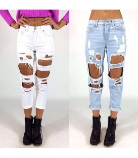Jeans maxi strappi