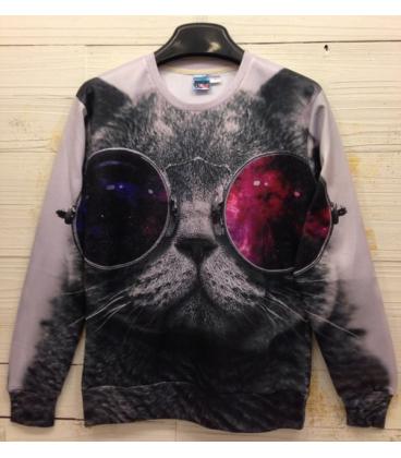 Pullover 3d Cat